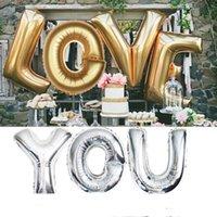 ballons d'aluminium mariage mylar achat en gros de-40 pouces Fête De Noël A - Z Alphabet Complet ballon à air Partie De Mariage Décoration Mylar Feuille Balloon Grande Grande Lettre