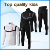 ingrosso tuta 16-Juventus Kids kit giacca RONALDO 2019 giacche 2020 tuta Dybala Mandzukic D. COSTA Training tuta da calcio calcio Felpa