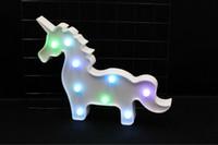 ingrosso lampada bella del fumetto del fumetto-Lovely Mini 3D LED Unicorno Flamingo Night Lamp animale del fumetto Night Lights Cactus Ananas scrivania Lampada da tavolo per il regalo dei bambini del bambino