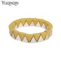 joyería de acrílico enlace al por mayor-Resina clásica brazalete de la pulsera del encanto brazaletes ajustables para las mujeres joyería de moda estiramiento de acrílico Link pulseras de cadena para niñas