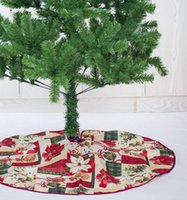 schürze weihnachtsbaum rock großhandel-Weihnachtsbaum Rock Base Bodenmatte Schürze Abdeckung Xmas Party Home Decor Durchmesser 60cm Weihnachtsbaum Dekor LJJK1752