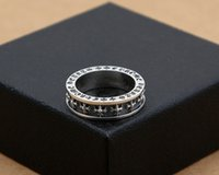 neue sterling silber ringe großhandel-Neue 925 Sterling Silber Edlen Schmuck Vintage Amerikanischen Europa Stil Antik Silber Kreuze Handgemachte Designer Männer Ringe Geschenk K3530