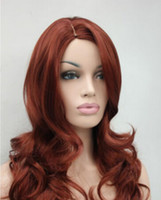 Wholesale womens color wigs for sale - Group buy WIGshipping Beautiful full wig red auburn wavy womens wigs quot long synthetic hair