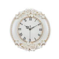 otel avrupası toptan satış-Yaratıcı Avrupa Dekoratif Duvar Saat Sessiz Oda Otel Relais Dell Orologio Restoran İzle Saat Çiçek Saat Salon Dekor
