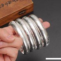 pulseras de plata africana al por mayor-4 PC más nueva plata Dubai oro grande de los brazaletes de las mujeres de los hombres de oro Pulseras mujer africana Etiopía Europeo hombres Regalo de la joyería de los brazaletes
