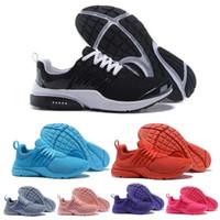 respirando sapatos de corrida mulheres venda por atacado-2019 PRESTO 5 BR QS Respire Branco Amarelo Mens Red Shoes Sneakers Women Running Shoes Homens Esportes sapatos de grife de sapatos tamanho 36-45