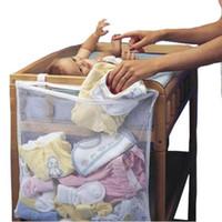 pañal de cuna al por mayor-Bebé Cuna Cama Colgante Bolsa de almacenamiento Cuna Organizador Juguete Pañal pañal Bolsillo para cuna Juego de cama Accesorio de cama de cuna barato LE356-U