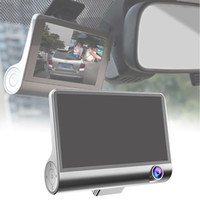 Wholesale camera install for sale - Group buy 4inch Three Lens Wide Angle Rear View Dash Cam Night Vision Parking Monitor Easy Install Digital Video Recorder Car DVR Camera