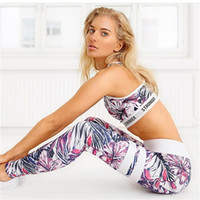 Wholesale super stretch yoga pants resale online - Explosion Printing Women Running Sports Leggings Super Stretch Slim Yoga Pants High Waist Gym Women Yoga Leggings Tummy Control