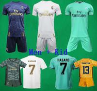 futbol kaleci takımları toptan satış-19 20 Real Madrid futbol formaları Kaleci futbol takımları TEHLİKESİ BALYA VINICIUS formalarını Camiseta De Fútbol Çocuklar futbol üniforma şort