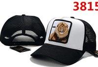 gorras americanas para mujeres al por mayor-Gorras de béisbol unisex de alta calidad estilo europeo americano malla bordado oso tigre bordado sombreros para hombres mujeres diseñador de lujo sombrero para el sol