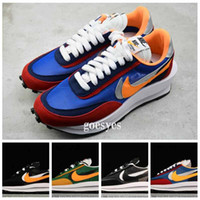 Wholesale basketball shoes s resale online - 2019 New Sacai LDV Waffle Daybreak Trainers Mens Sneakers For Women fashion designer Breathe Tripe S Sports Running Shoes eur