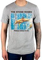piedra gris al por mayor-Camiseta oficial The Stone Roses Fools Gold New Grey Begging You Second Coming