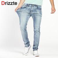 f66aa49b616 Drizzte Brand Mens Jeans Trendy Stretch Blue Grey Denim Men Slim Fit Jeans  Trousers Pants Size 30 32 34 35 36 38 40 42 44 Jean