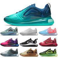 grau neonrosa großhandel-Nike Air Max 720 Shoes Laufschuhe für Männer Frauen Schwarz Weiß Rot Sonnenuntergang Carbon Grey Mens Trainer Sport Turnschuhe 36-45