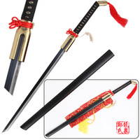 Wholesale japan cartoon hot for sale - Group buy For Anime Bleach Urahara Kisuke Zanpakuto Benihime Sword Real Steel Blade Decorative Sword Inch Hot Sale