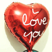I love you foil balloons helium birthday party letter party foil Aluminum red heart balloons wedding Decoration Supplies