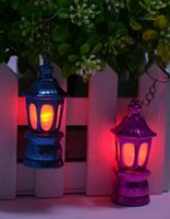 ingrosso lanterna portachiavi-2000pcs Ramadan Lantern Keychain Led Light con batterie AG3 Dimensione strumenti esterni 6.2 * 2.8cm
