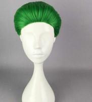 Wholesale cosplay batman joker for sale - WIG Suicide Squad Jared Leto Batman Joker Cosplay wig with cap
