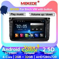 """bmw e39 dvd gps bluetooth venda por atacado-controle de voz Android 10 8"""" 2DIN DVD do carro para VW POLO DE GOLFE 5 6 POLO B6 CC TOURAN EOS SHARAN SCIROCCO CADDY"""