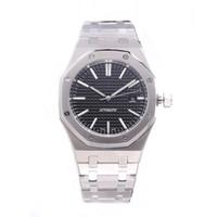 relógio luminoso de aço inoxidável venda por atacado-HOT mens relógios de luxo 42mm cinta de aço inoxidável completa Relógio mecânico de negócios relógio de pulso luminosa safira reloj de lujo 5ATM à prova d 'água