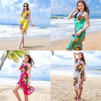 übergroße seidenschals großhandel-Übergroße Sonnencreme Frauen Schal mit Camisole Wild Joker Frivole Breathable Silk Schal Einfache Art und Weise multi Farben Strandtuch 6 8yxD1
