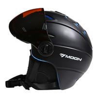 лыжный шлем l оптовых-Луна CE сертификация очки лыжный шлем в форме лыжный шлем с очками Сноуборд / скейтборд 5 цветов S/M/L / XL