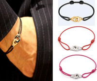 ingrosso braccialetti 24k oro china-Francia Parigi gioielli in argento sterling 925 manette Dinh Van braccialetto per le donne con corda in argento 925 bracciale ciondolo menottes