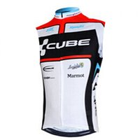 Wholesale black cycling vest for sale - Group buy 2019 CUBE team men Cycling sleeveless jerseysCycling clothing Bicycle vest Mountain Bike wear summer Quick dry Breathable