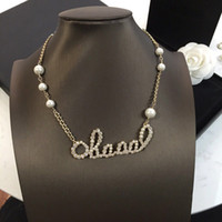 Wholesale string for pearls for sale - Group buy Fashion brand Ra Designer necklace for lady Women Party Wedding Lovers gift engagement Luxury Jewelry for Bride With BOX