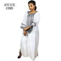 material de ropa africana al por mayor-Ropa africana material suave dashiki tradicional diseño largo vestido largo A226 #