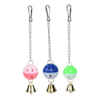 Wholesale pet swing for sale - Group buy Parrot Toys Pet Bird Parakeet Climb Bite Chew Hanging Swing Bell Ball Toy