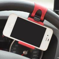 крепление подставки для клипсов оптовых-Автомобильный руль Держатель стенд для Универсальный Мобильный сотовый телефон GPS держатель руль клип держатель стенд LJJK1153