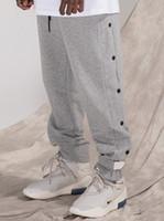 ingrosso pantaloni da jogger-19SS Fear Of God FOG Dark Sweatpants Pantaloni sportivi grigi Classic Track Pantaloni Luxury Vintage Street Casual Pantaloni Uomo Donna Sport Pantaloni Jogging