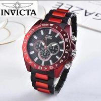 reloj de silicona para hombre al por mayor-Autorización marca INVICTA clásica de alta calidad de negocios y ocio Calendario completo de los hombres de silicona reloj de cuarzo pequeño adorno de línea