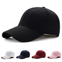düz kışlık şapka toptan satış-Şapka Basit Moda Sonbahar ve Kış Erkek Kadın Düz Kavisli Güneşlik Beyzbol Şapkası Şapka Düz Renk Moda Ayarlanabilir Caps