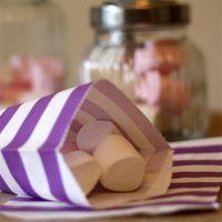 12 paket toptan satış-12pcs Çizgili Çanta Popüler Taşınabilir Gıda Ambalaj Petrol Geçirmez Kağıt Torba Yüksek Grade Sıcak Satış 1 9AL UU