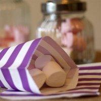 pacote quente portátil venda por atacado-12pcs Stripe Bolsas Popular portátil Food embalagem à prova de óleo saco de papel High Grade Hot Venda 1 9AL UU