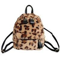 ingrosso i capretti stampano il leopardo dei zainhi-Leopard Print Small Zaini per le donne 2018 Mini zaino Kids Fashion Bag Pack Travel catena peluche Borse Winter Bag # 92527