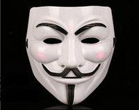 maskeli parti süslemeleri toptan satış-2000pcs V Maskesi Vendetta Anonim Valentine Topu Parti Dekorasyon Tam Yüz Halloween Süper Korku Parti Maskesi SN380 için maskeler Masquerade
