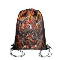 mochila floral preta venda por atacado-Esportes com cordão Mochila Slayer-Spirit-in-Black popular durável cinch Pull String Backpack