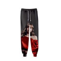 корейские плакаты оптовых-2019 модный принт популярный корейский BLACKPINK 3D KILL THIS LOVE Плакат с альбомом Casual Comfort 3D Спортивные брюки Мужчина и женщина мода