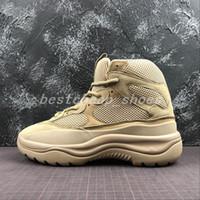 sapato militar preto venda por atacado-New Season 6 Desert Rat Bota 6s Grafite militares preto Estilo Homens Seankers Kanye West Running Shoes formadores chaussures Mens botas de grife