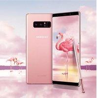 notiz single sim dual core großhandel-Überholte Samsung Galaxy Note 8 N950U Single Sim Original entsperrt LTE Dual hinten 12.0MP 6.3inch Snapdragon 835 Fingerprint Handy