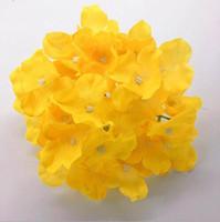 suni ipek kelebek orkide mor toptan satış-001 Yapay Ortanca Düğün Duvar ArchDIY Için Dekoratif Ipek Çiçek Baş Saç Çiçek Ev Dekorasyon