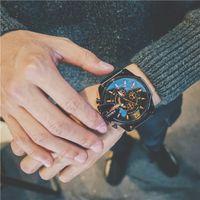 militär uhr gesicht großhandel-Edelstahl Quarzuhren Analog Business Big Face Army Military Geschenke Uhr Relogio Masculino Luxus Herrenuhr Sport Armbanduhren