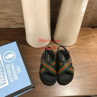 новый стиль мальчиков обувь оптовых-Новые детские туфли для девочек мальчики Пляжные туфли в римском стиле кроссовки детские сандалии Девушки сандалии детская обувь d-g4
