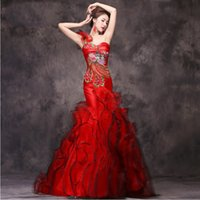 Wholesale lace qipao wedding dress for sale - Group buy Luxury Sexy Slim Party Cheongsam dress Chinese style Womens Wedding Qipao Evening gown Elegant one shoulder Long Robe mordern vestido