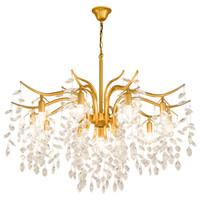 lámpara de suspensión negra al por mayor-Lámpara de restaurante Lámpara de cristal de metal dorado / negro nueva barra Lámpara de cristal Lámparas colgantes Lámparas de suspensión Lámpara de oro
