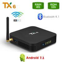 TX6 4GB RAM 32GB ROM Android 9.0 TV Box Allwinner H6 Quad Core Media Player 2.4G 5G Wifi Bluetooth 4.1 4K HD Smart Set Top Box